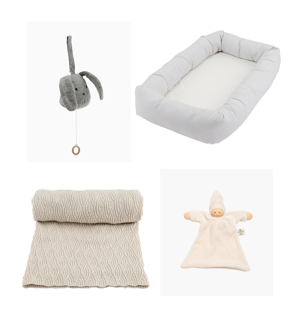 Music box// KONGES SLØJD  Blanket// KONGES SLØJD  Baby nest// KONGES SLØJD  Soft toy// NANCHEN
