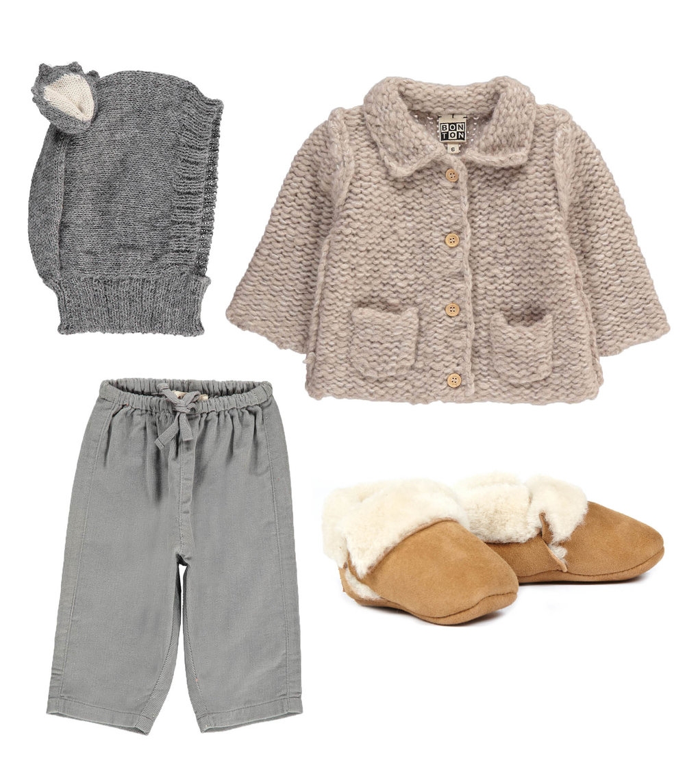 Wool Hood// OEUF  Jacket/ BONTON  Pants// CARAMEL  Shoes// UGG