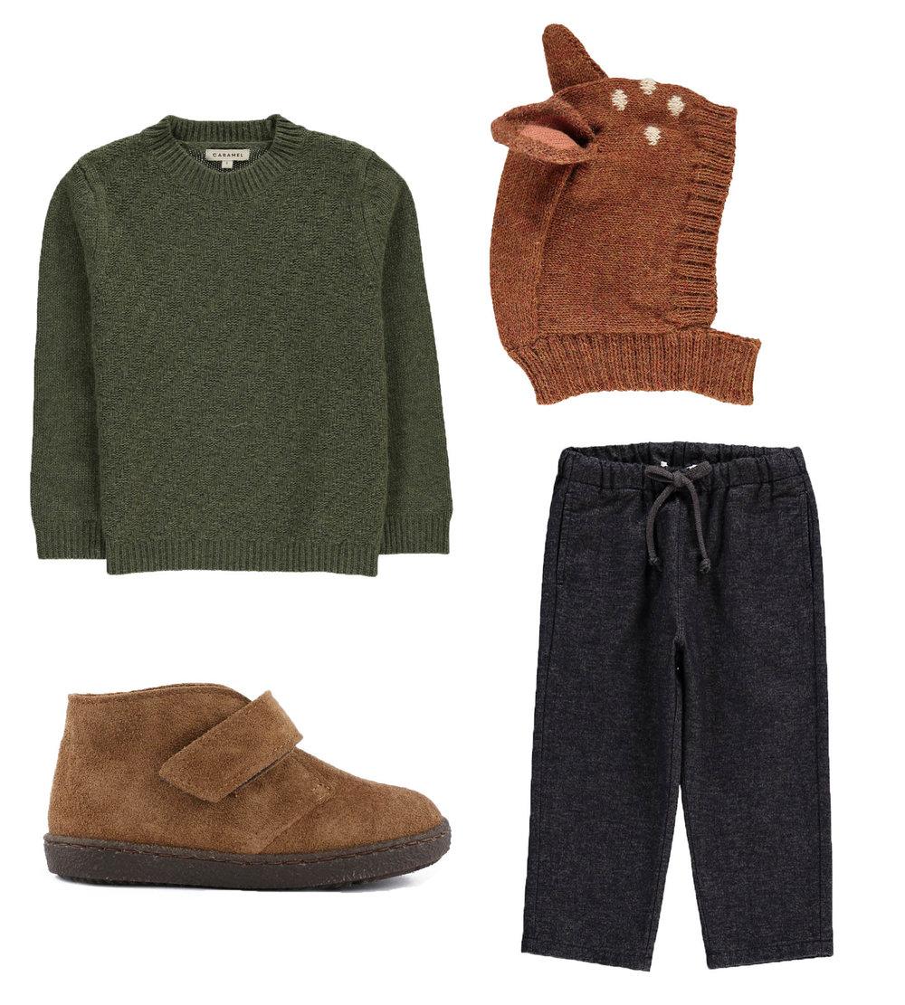 Blouse// CARAMEL  Wool Hood// OEUF  Shoes// PÈPÈ  Pants// BABE & TESS