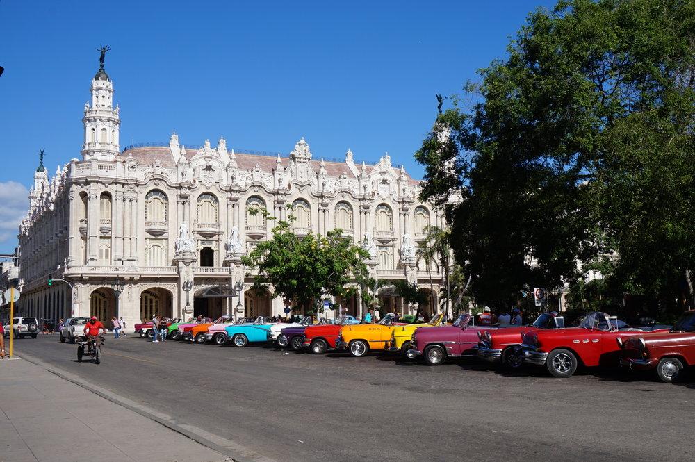 Cuba Havana Parque Central Classic Cars.JPG
