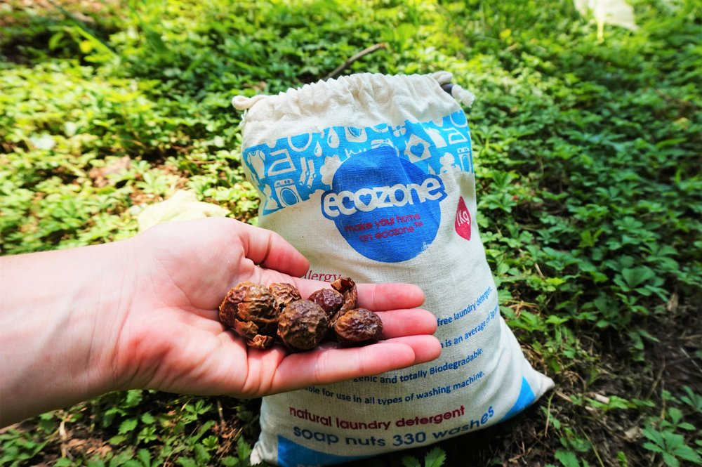 get some saop nuts for washing, eco-friendly travel accessories