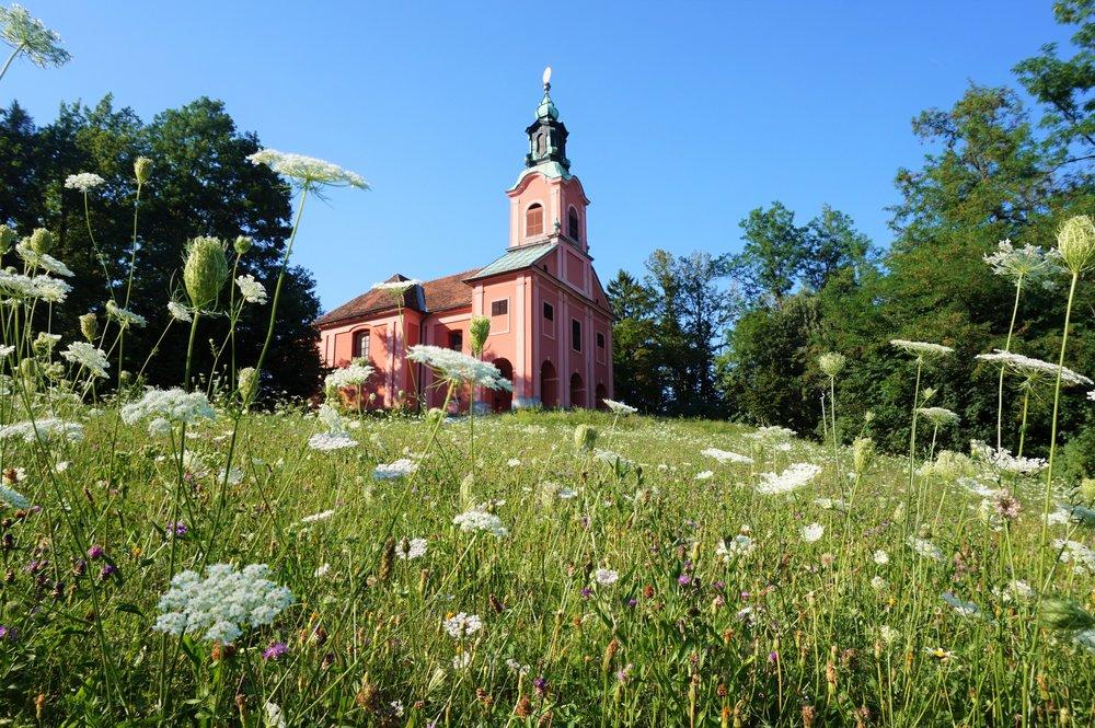 Church in Tivoli park a must-see in ljubljana