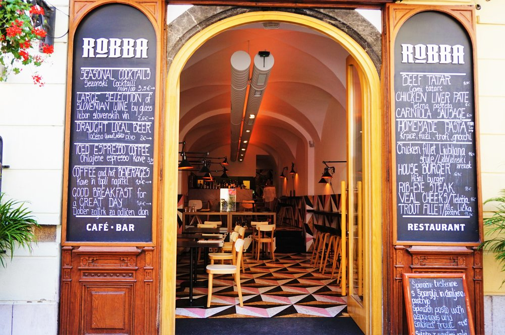 Robba cafe is one of the best places to eat in Ljubljana