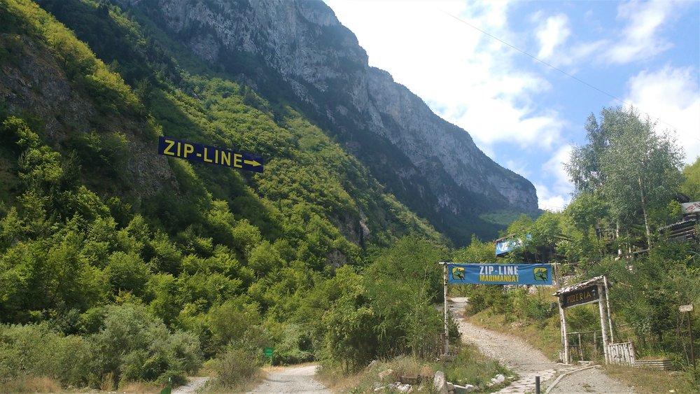 Kosovo Rugova Canyon Zipline
