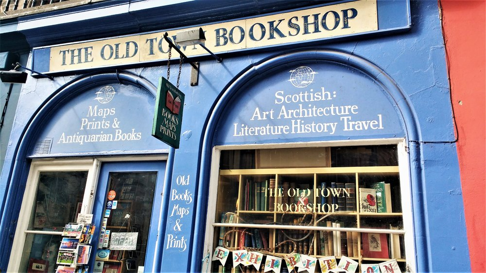 best bookshops in Edinburgh old town books