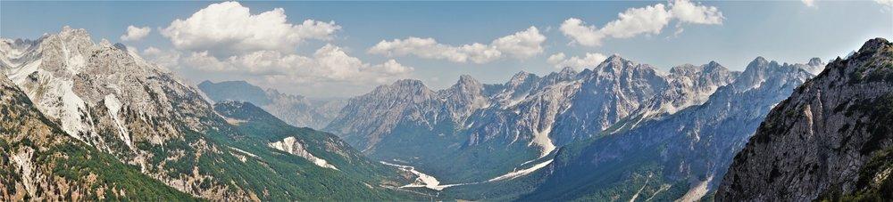Views on the Theth to Valbona hike