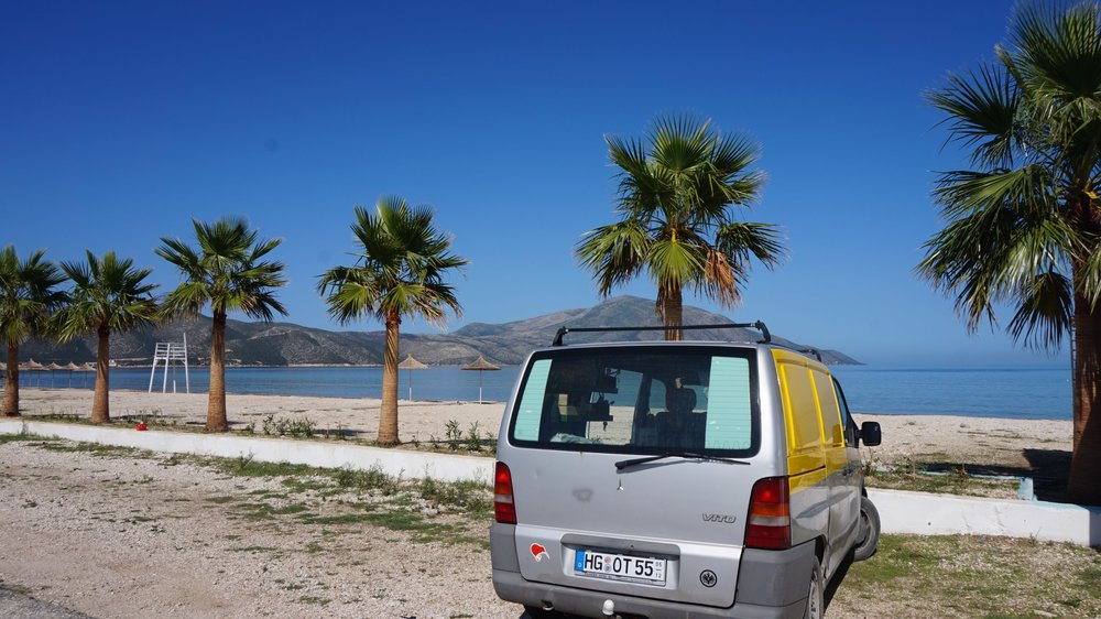 places to wild camp Albanian beaches