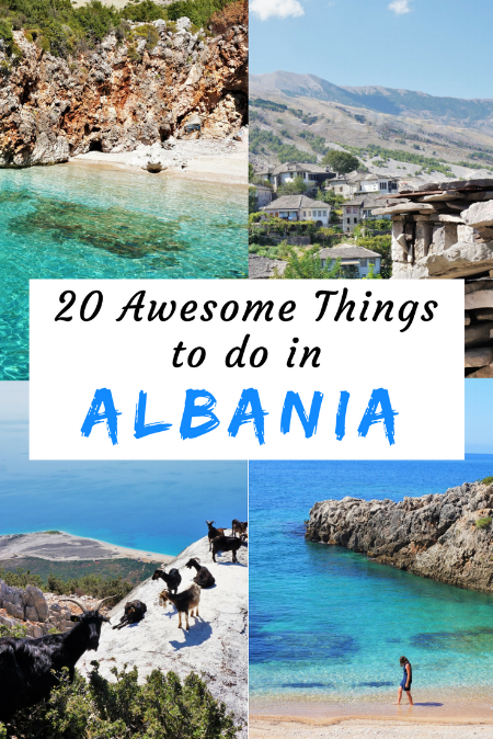 Travel inspiration for Albania. Twenty awesome things you should do in this underrated amazing country. 20 great ideas to plan your trip to Albania. #albania #travelinspiration