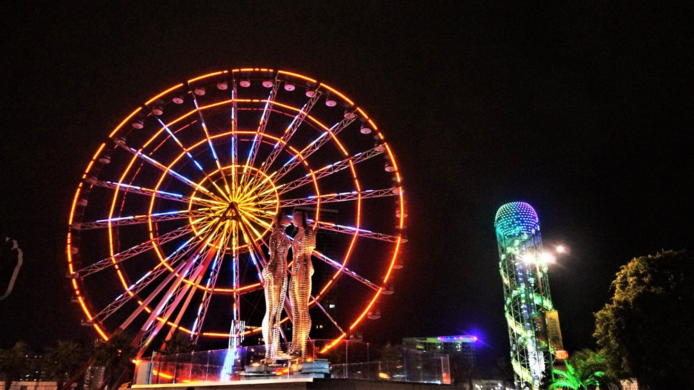 The ferris wheel at the waterfront in Batumi, georgia is one of the top things to see in Batumi