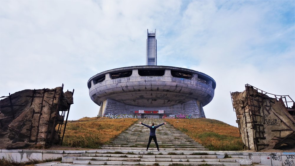 must-see on a road trip in the balkans - bulgaria buzludzha monument