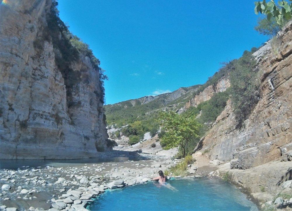 Thermal springs in Permet Albania
