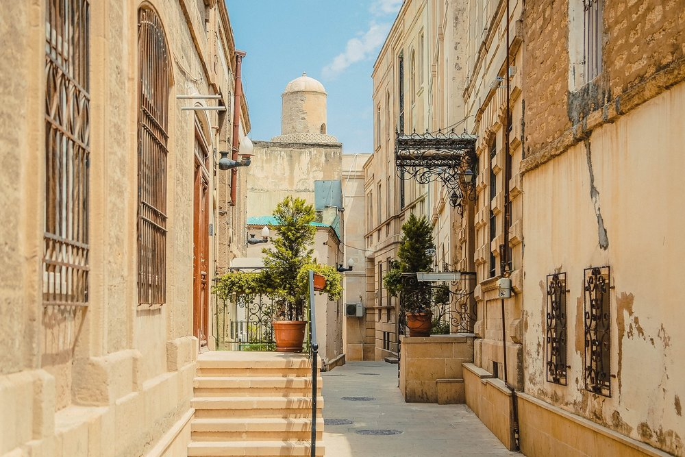 The old town on Baku Azerbaijan