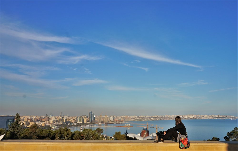 views of baku city