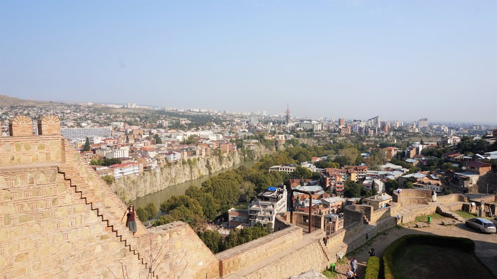 Views from the Narikala fortress, one of the top attractions in Tbilisi