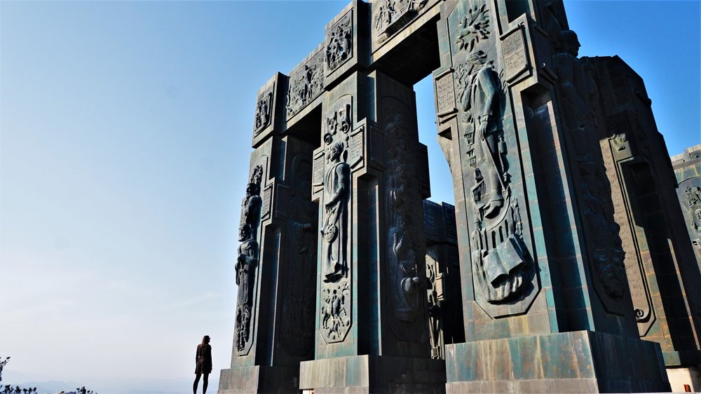 the chronicle of georgia monument is one the most interesting things to see in tbilisi