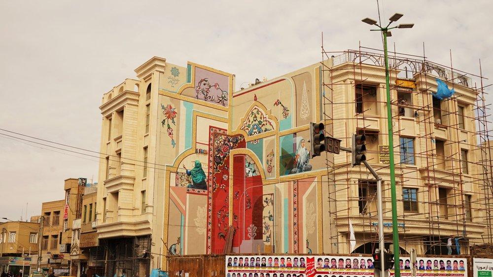 street art iran kashan