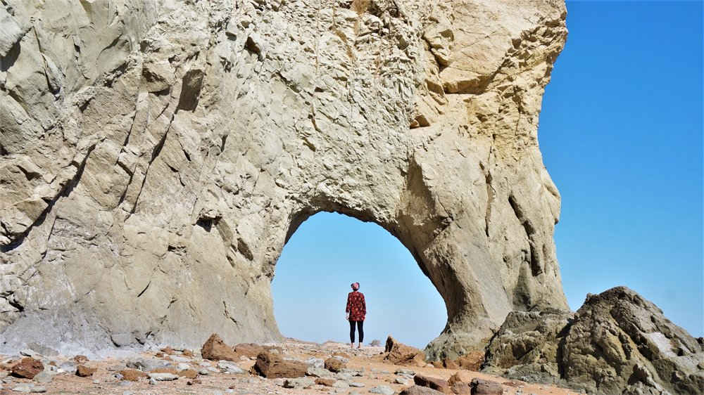 hole in the rock- top sites on hormuz island iran