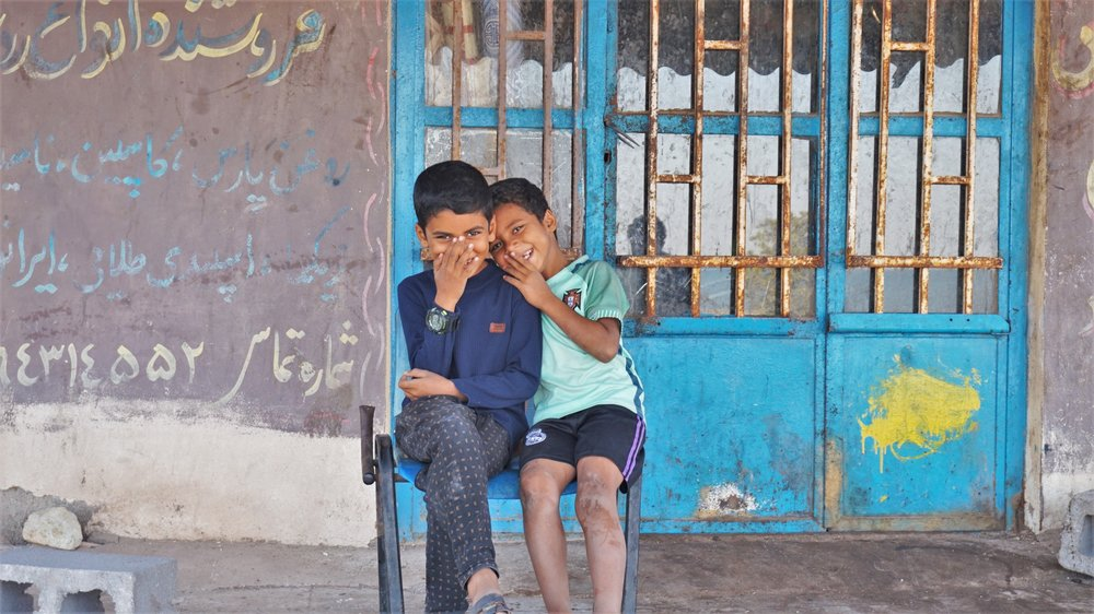 local children hormuz island iran