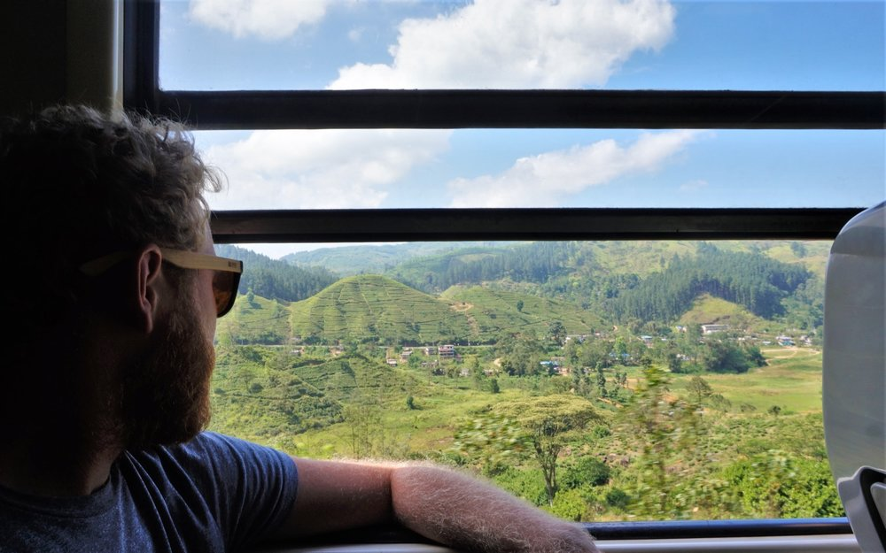 Views out the window on the Kandy to Ella train in Sri Lanka
