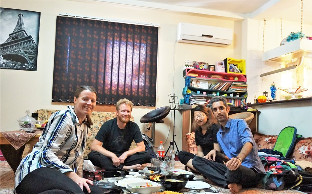 Staying with locals in Iran