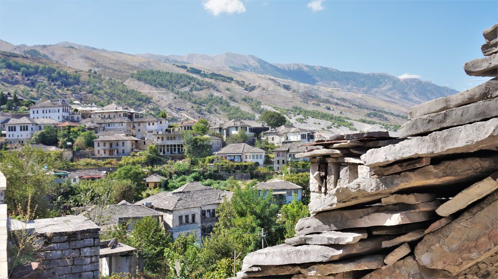 The beautiful stone roofs of Gjrokaster are a must see in every Albania travel itinerary.