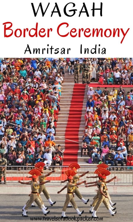 Are you planning a trip to Punjab, India? Read about the must-see Wagah border parade spectacle! Everything you need to know for getting to the Wagah border from Amritsar, timings of the Wagah border parade and what to bring with you to this unique event. See the Wagah border ceremony near Amritsar // Wagah border spectacle // Wagah border closing ceremony // Wagah border closing India and Pakistan #wagah #wagahborder #wagahborderclosing #wagahborderceremony #amritsar #india #pakistan