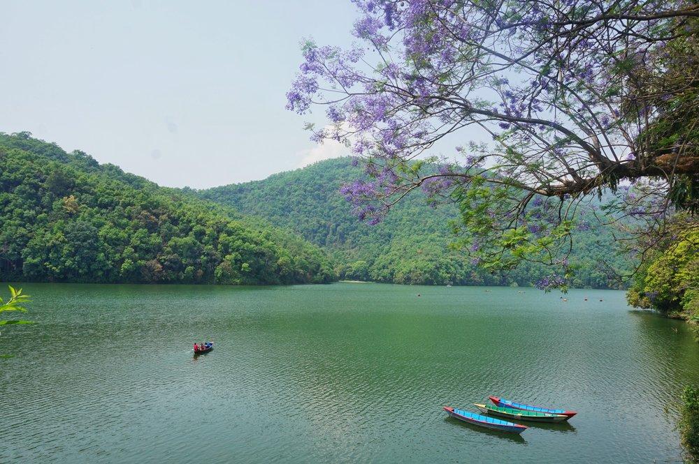 Beautiful mountain lake, Nepal