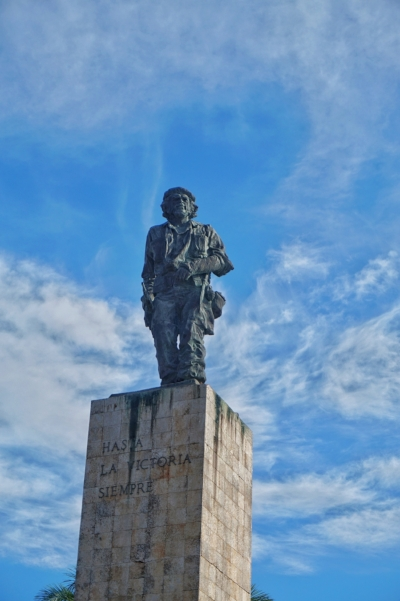Che Guevara is the great hero of Cuba, you'll find statues of him everywhere. The Che Guevara statue in Santa Clara is a must see spot in Cuba!
