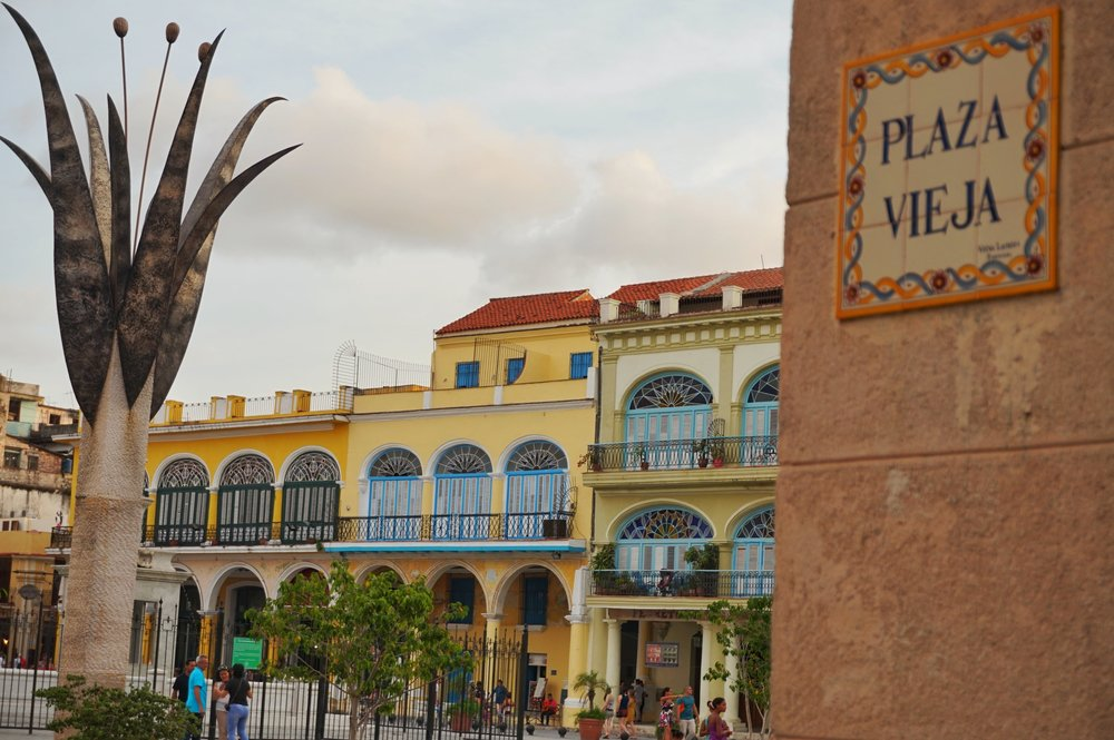 Plaza Vieja in the Olt Town of Havana is a must see places in Cuba!
