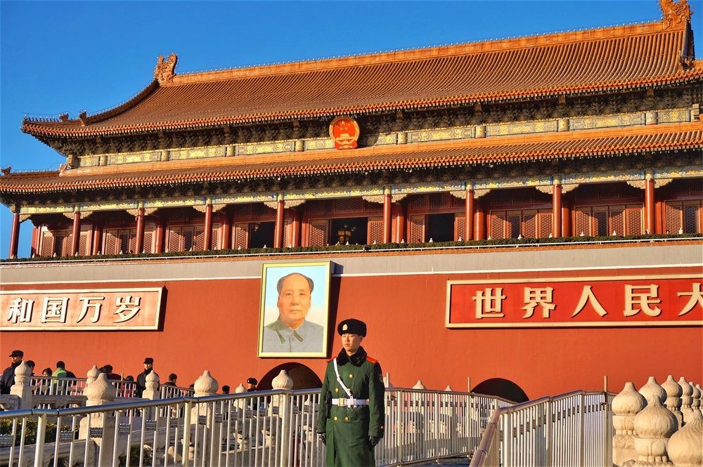 tiananmen square is a must-see on a layover in Beijing