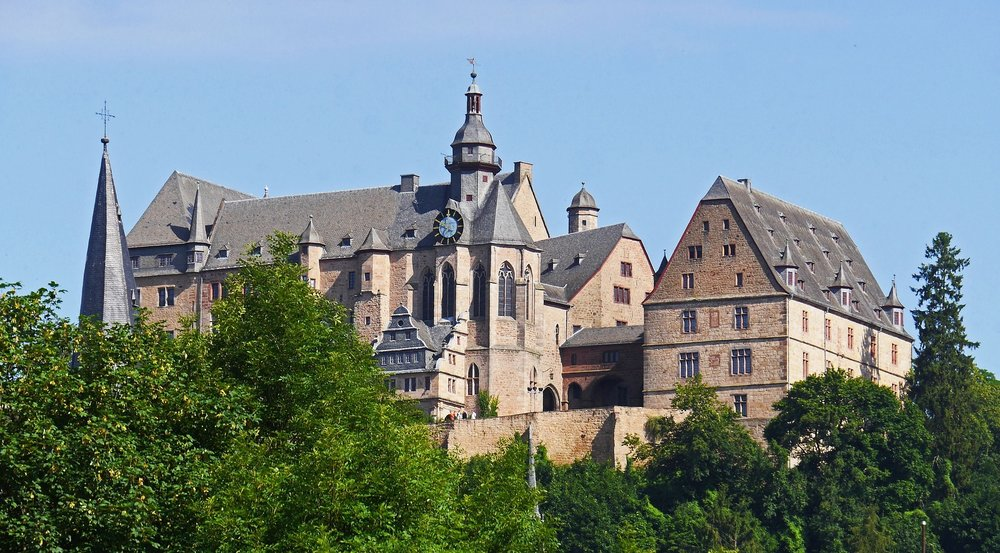 The castle in marburg, definitely one of the best places to see in a day trip from Frankfurt