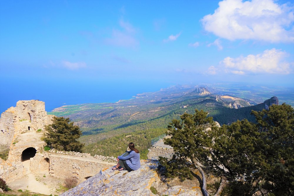 View over the coastline of North Cyprus. One of the best places to see in northern Cyprus.