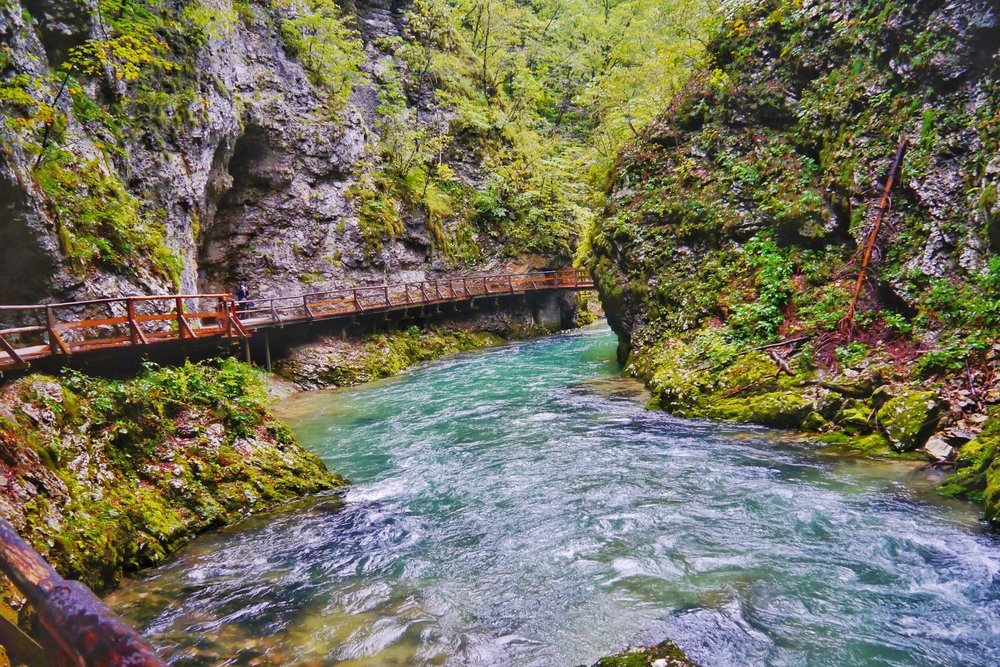 Vintgar Gorge in Slovenia is one of the most incredible day hikes in the Balkans!