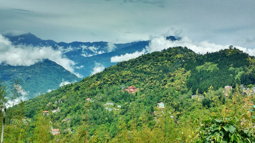 The amazing views of the mountains around Pelling are one of the best things to see in Sikkim during your trip backpacking in Sikkim, India.