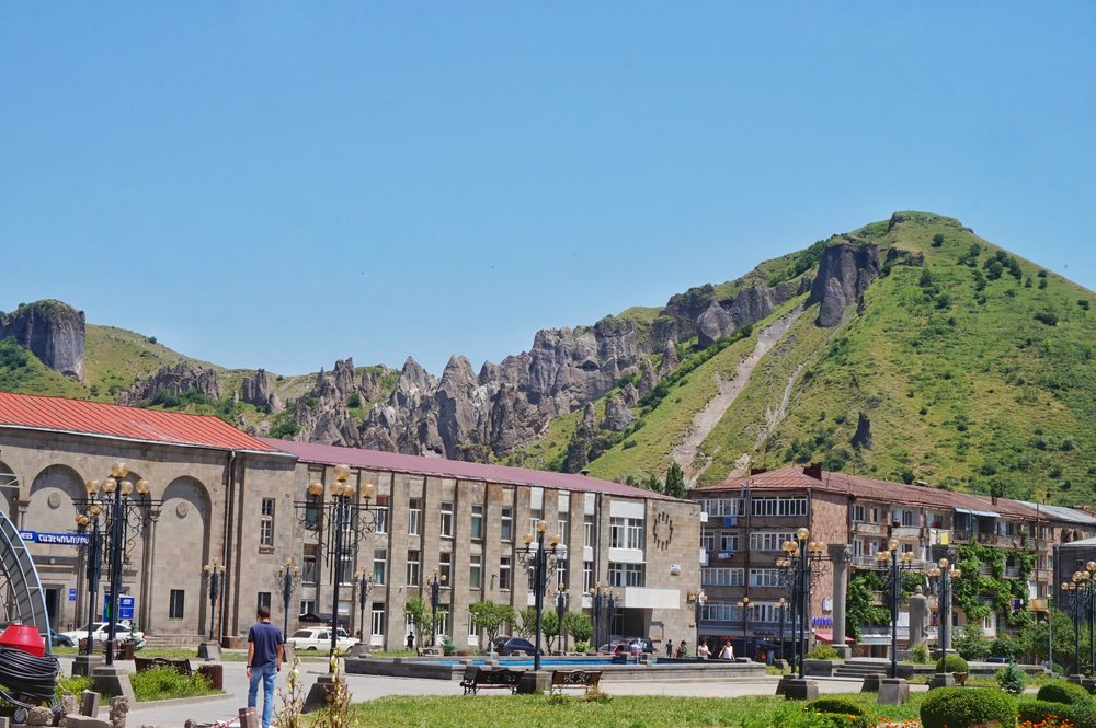 Goris is the closest town to Tatev and can be your base for visiting the region. One of the must see stops during your Armenia itinerary.