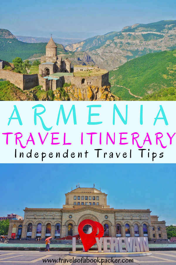 Planning a trip to Armenia? Read our itinerary for some travel inspiration! All the best places to visit in Armenia including how to get there and things to see for your perfect trip to Armenia. #Armenia #Caucasus #Yerevan #Nature #hiking #Armeniaitinerary #travel #travelitinerary #Tatev #Artsakh #Karabakh #monastery