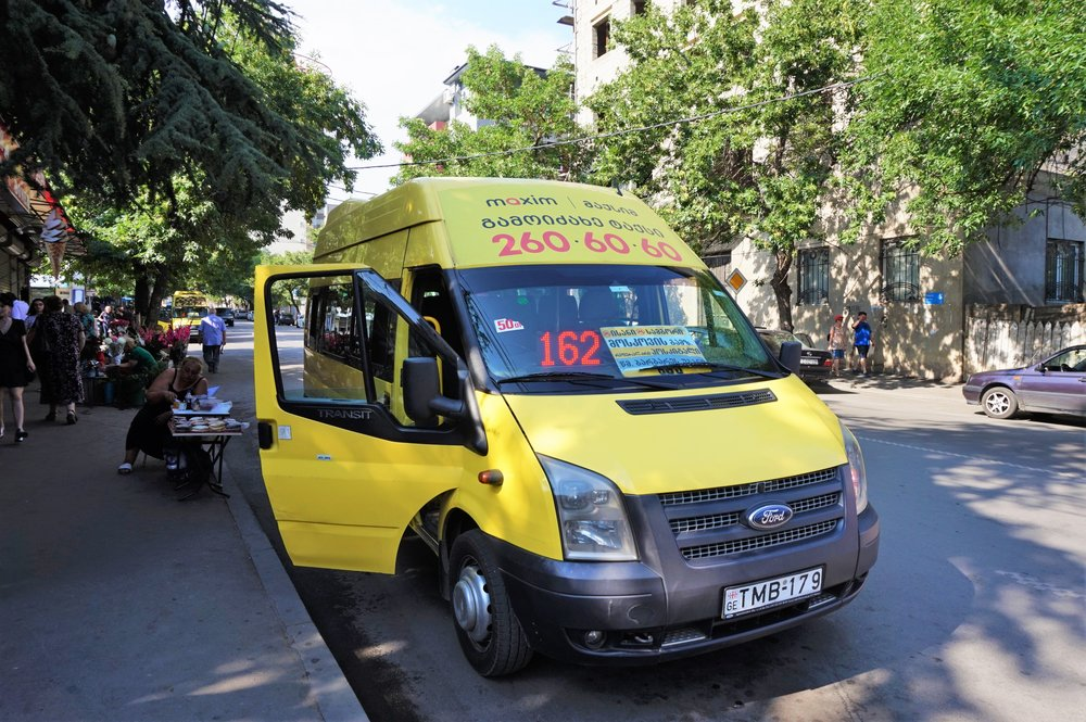 Marshrutka or mini-buses are the most authentic part of the Tbilisi public transport system. All locals travel with these mini-buses, which are a big part of the public transport in Tbilisi!