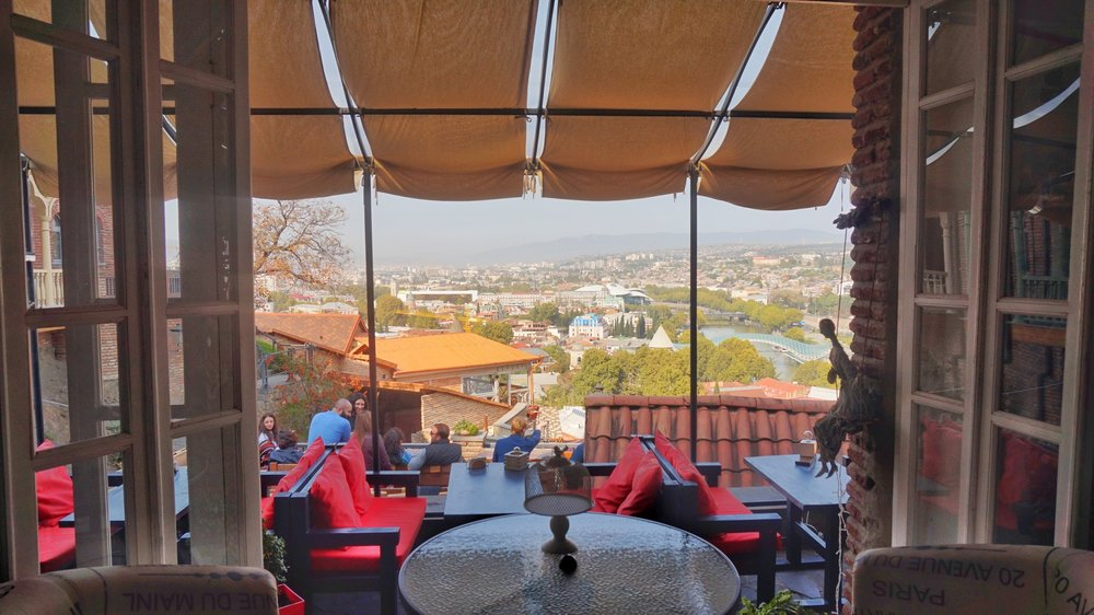 One of the best Cafes in Tbilisi with an amazing view!