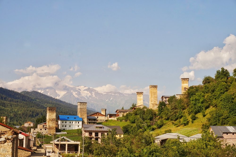 The beautiful towers of Mestia, Georgia.