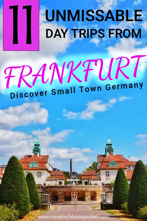 Flying into Frankfurt, Germany? Include some time to visit the gorgeous small towns around Frankfurt. Read our collection of the best day trips from Frankfurt, Germany! #daytrips #frankfurt #germany #heidelberg #marburg #travel #tripsaroundfrankfurt #rheinsteig #rheinmain #mainz