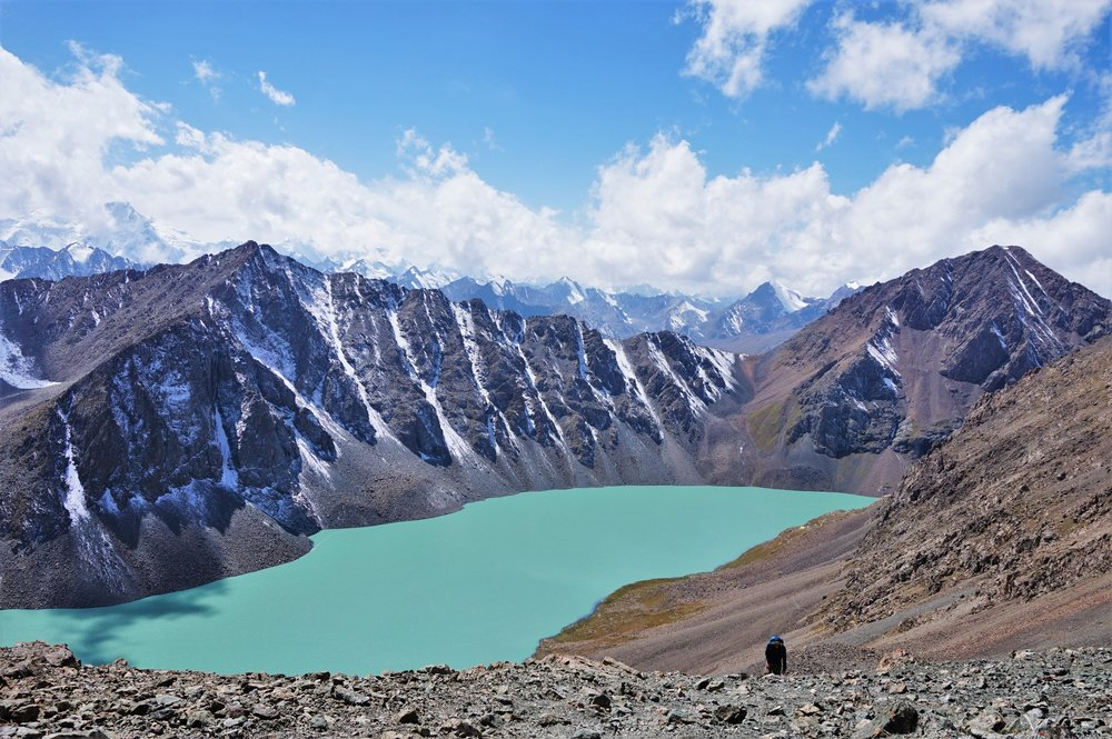 Hiking up to Ala-Kul alpine lake is one of the most awesome things to do in Kyrgyzstan! This hike has to be on every things to see in Kyrgyzstan bucket list!