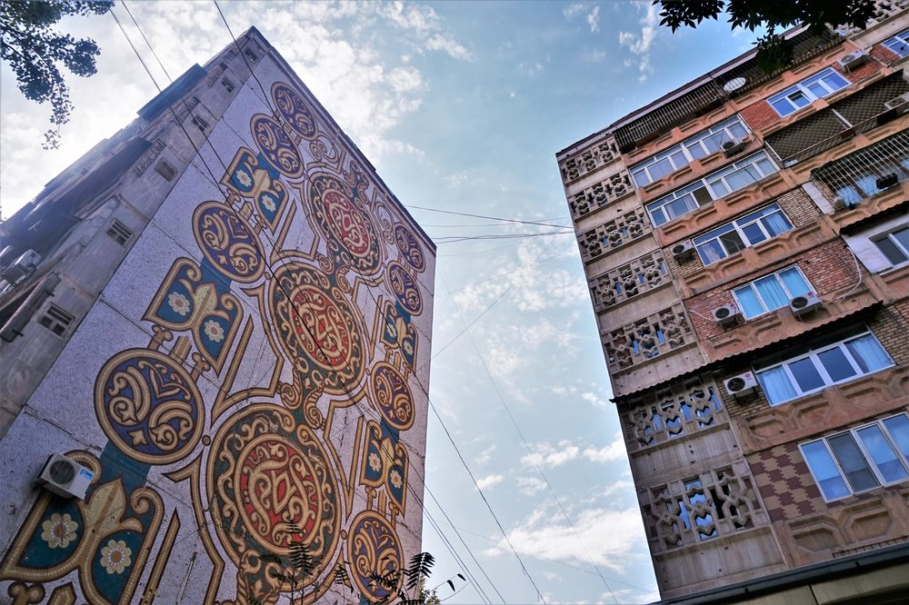 The mosaics in the streets of Tashkent are one of the best things to do in Tashkent! Best things to see in Tashkent, Uzbekistan.