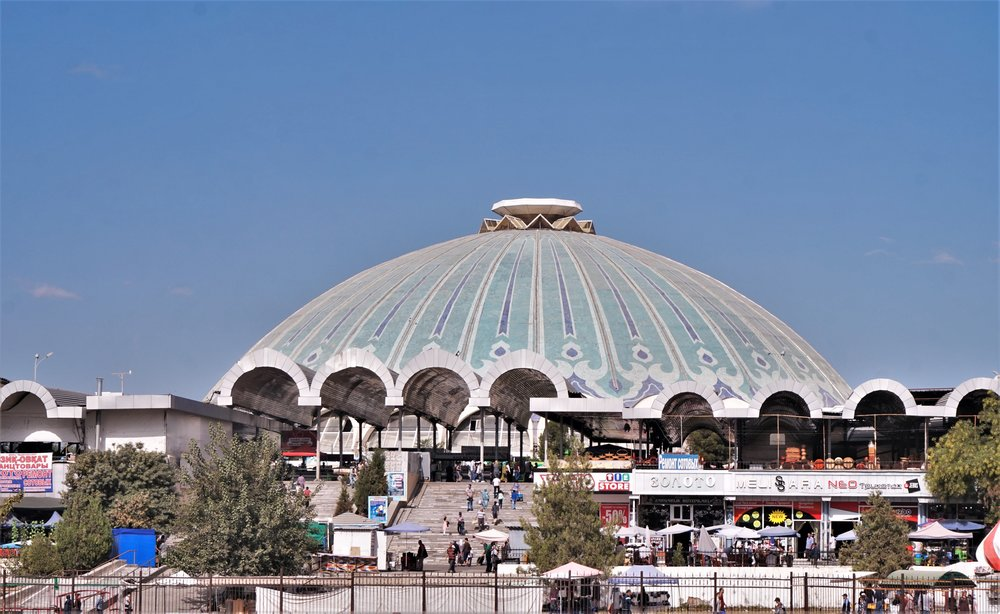 Visit the Chorsu Bazaar is one of the best things to do in Tashkent, Uzbekistan.