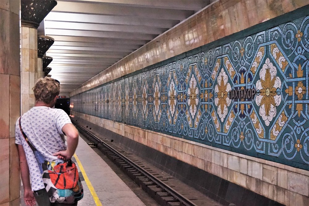You will use the Tashkent metro system frequently during your time in the capital of Uzbekistan. The beautiful artwork in the Tashkent metro stations is one of the best things to do in Tashkent, Uzbekistan.
