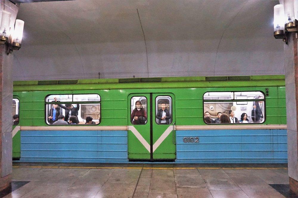 Metro stations in Tashkent, Uzbekistan