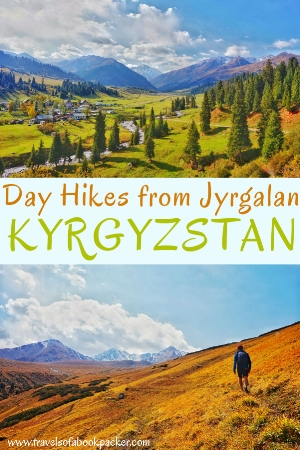 Thinking of going hiking in Kyrgyzstan? It's definitely worth heading to Jyrgalan and if you're short on time these stunning day hikes from Jyrgalan are perfect to add to your Kyrgyzstan trip. #kyrgyzstan #jyrgalan #hiking #dayhikes #trekking #travel #backpacking #centralasia