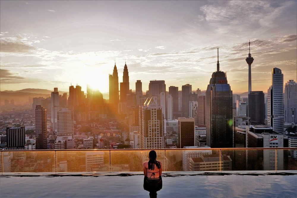 Staying at Regalia Residence with the amazing infinity pool is one of the best things to do in Kuala Lumpur during your 2 day Kuala Lumpur itinerary.