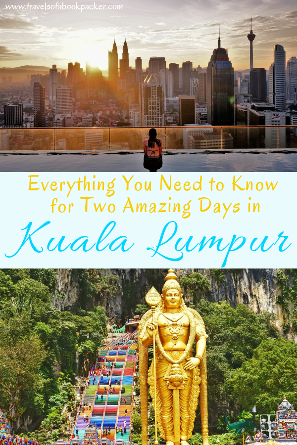 Backpacking in Malaysia? Read our detailed itinerary for 2 days in Kuala Lumpur. Includes details about where to stay in Kuala Lumpur with an infinity pool, best places to eat and things to do in Kuala Lumpur, Malaysia. #malaysia #kualalumpur #asiatravel #travel #petronastower #petronas #kl #twintowers #traveltipsforeveryone #traveltips