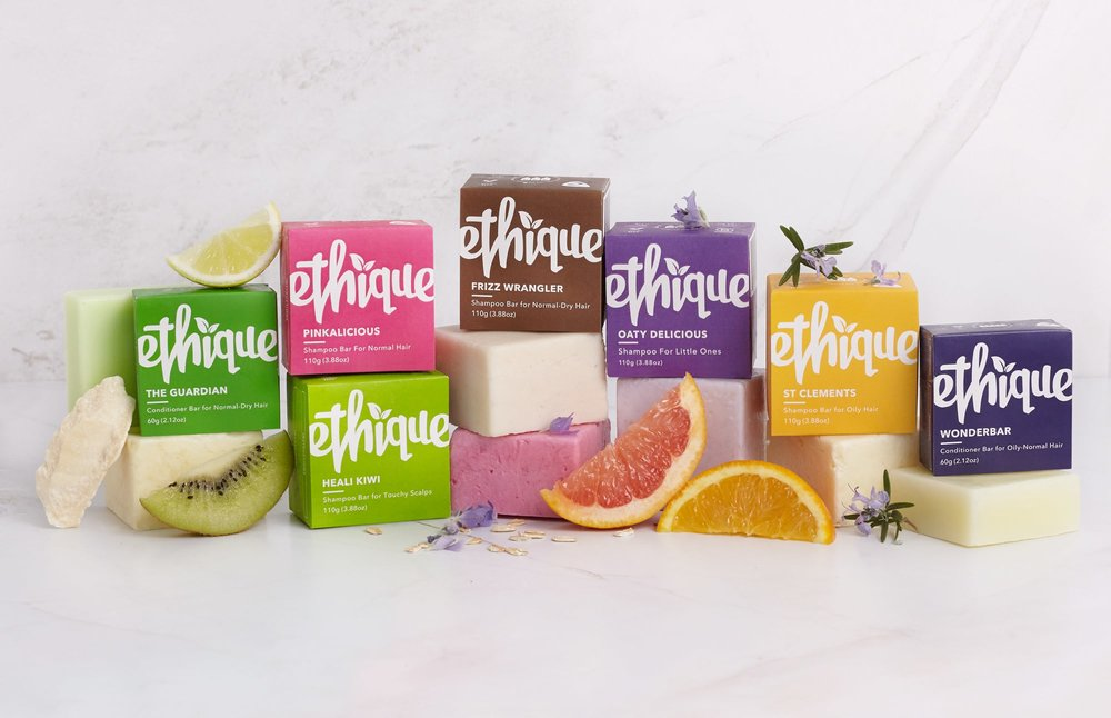 Try solid shampoo bars from Ethique to reduce your plastic use!