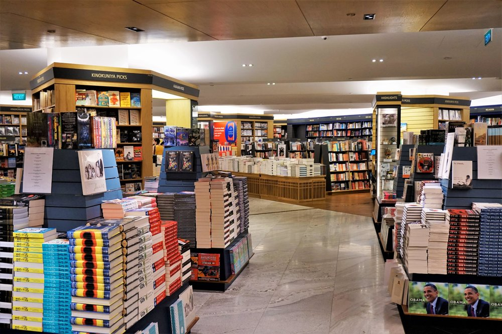 The largest book shop in Singapore is worth a visit. Book lovers guide.